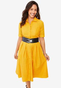 Eyelet Shirt Dress,