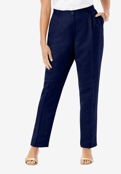 Linen Pleat-Front Pant,