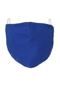 2-Layer Extra Large Reusable Cotton Face Mask - Men's, BLUE