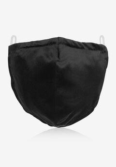 2-Layer Extra Large Reusable Cotton Face Mask - Men's, BLACK
