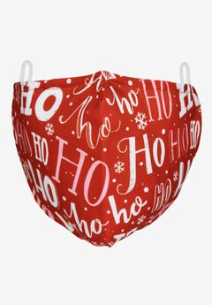 2-Layer Extra Large Reusable Cotton Face Mask - Men's, HO HO HO