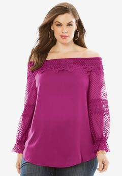 Lace Off-The-Shoulder Tunic,