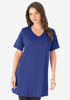 Short-Sleeve V-Neck Ultimate Tunic,