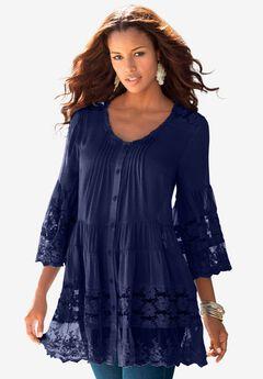 Illusion Lace Big Shirt,
