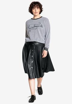 Faux Leather Flared Skirt Castaluna ,