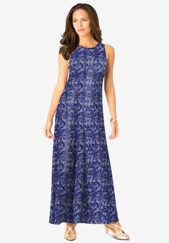 Ultrasmooth® Print Maxi Dress,