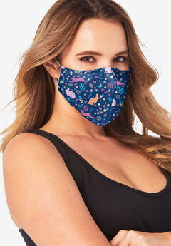 Women's Two-Layer Reusable Face Mask, EASTER BUNNIES