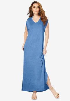 Side-Slit T-Shirt Dress,