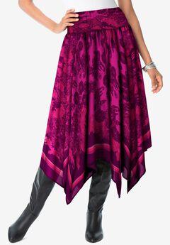 Handkerchief Hem Skirt,
