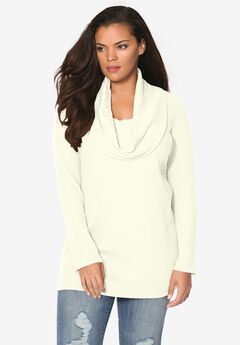 Cowl-Neck Thermal Tunic,