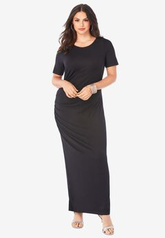 Supersoft Ruched Maxi Dress,