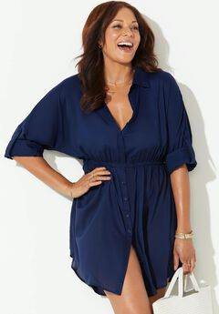 Blaire Button Up Top Cover Up,