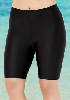 Chlorine Resistant Lycra Xtra Life Long Bike Short Swim Bottom,