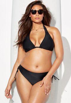 Beach Babe Triangle Bikini Set with Adjustable Brief,