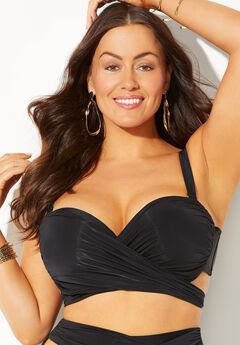 GabiFresh Wrap Cup Sized Underwire Bikini Top,
