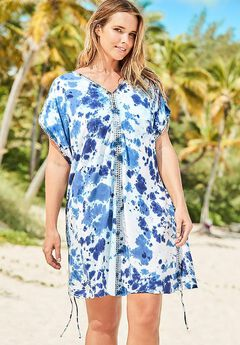 Rory Tie Dye Crochet Cover Up Tunic,