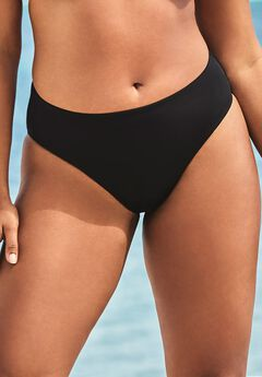 Ashley Graham Fearless High Waist Bikini Bottom, BLACK