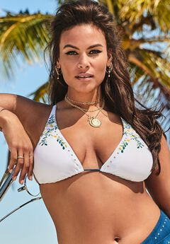 Ashley Graham Revere Bikini Top,