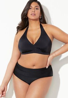 Diva Halter Bikini Set with Foldover Brief,