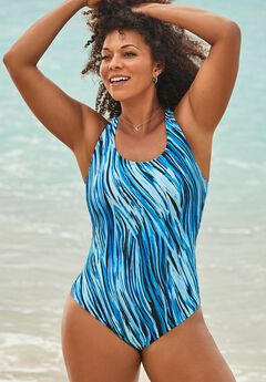 Crossback One Piece Swimsuit ,