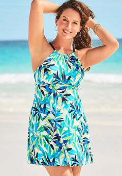 High Neck Swimdress,