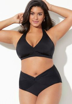 Diva Halter Bikini Set With Twist Front Brief,