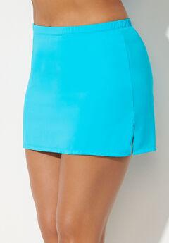 Side Slit Swim Skirt, CRYSTAL BLUE