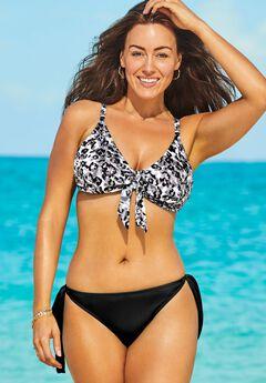 Mentor Tie Front Bikini Set with Side Tie Brief,
