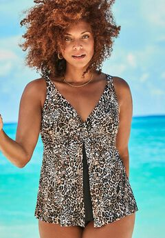 V-Neck Twist Tankini Top,