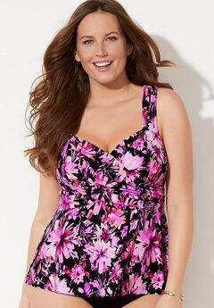 Sweetheart Wrap Tankini Top,