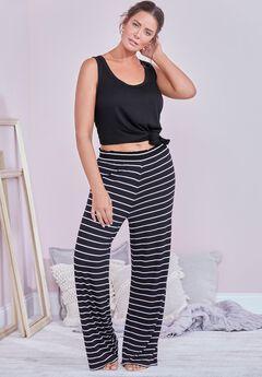 Dena Lounge Pant, BLACK WHITE