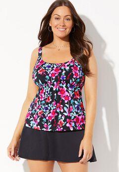 Flared Tankini Set with Skirt,