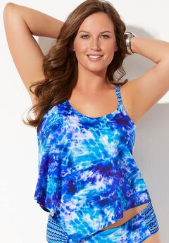 Scarf X-Back Tankini Top,