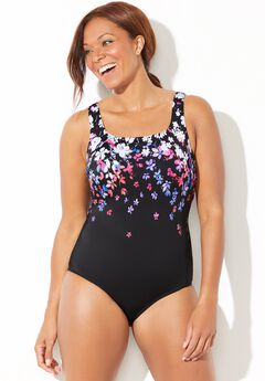 Chlorine Resistant Scoop One Piece Swimsuit,