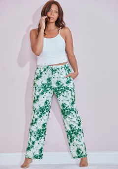 Lily Lounge Pant, OLIVE TIE DYE