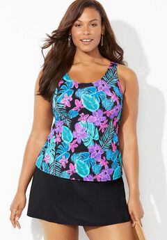 Classic Tankini Set with Skirt,