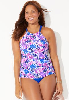 High Neck Tankini Set,