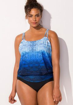 Loop Blouson One Piece Swimsuit,