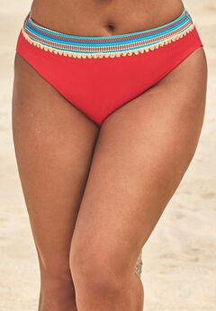 Mentor Ribbed High Waist Bikini Bottom,