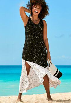 Colorblock Cover Up Maxi Dress,