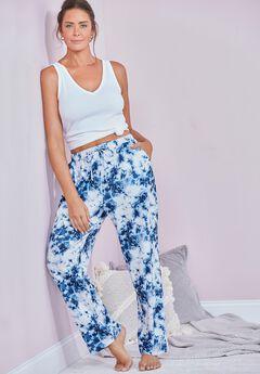 Lily Lounge Pant, BLUE TIE DYE