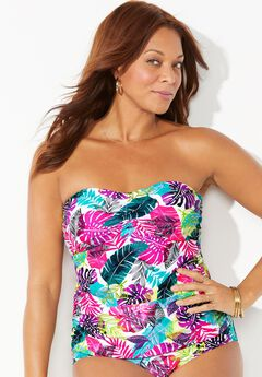 Sweetheart Bandeau Tankini Top,