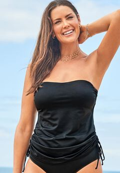 Bandeau Adjustable Tankini Top,