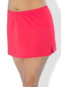 Side Slit Swim Skirt, HOT LAVA