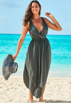 Tenley Surplice Cover Up Maxi Dress,
