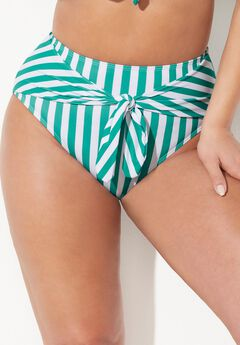 GabiFresh Cargo High Waist Bikini Bottom, ALOE WHITE STRIPE