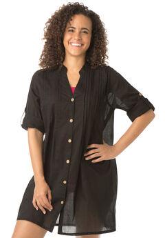 Gemma Button Up Cover Up Shirt,