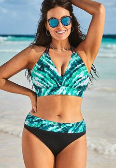 Avenger Halter Bikini Set with Foldover Brief,