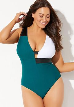 GabiFresh Colorblock One Piece Swimsuit,