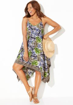 Diane Handkerchief Cover Up Dress, ANIMAL JUNGLE